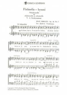 Finlandia-hymni op. 26/7 - Mixed choir