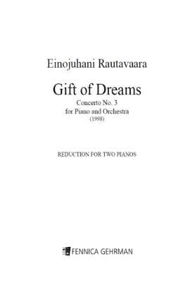 "Piano Concerto No. 3 ""Gift of Dreams"" (reduction 2pf)"