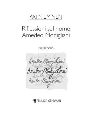 Riflessioni sul nome Amadeo Modigliani