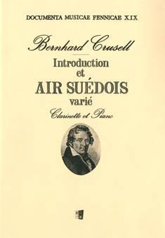Introduction et air sueédois varié pour la clarinette