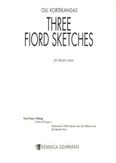 Three Fiord Sketches