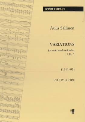 Variations for Cello and Orchestra op. 5 : study score