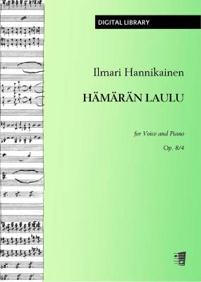 Hämärän laulu op. 8/4 - Voice/piano (PDF)