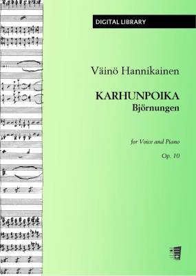Karhunpoika / Björnungen op. 10 - Voice/piano (PDF)