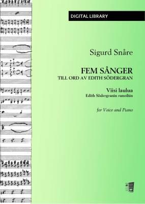 Fem sånger till ord av Edith Södergran - Voice/piano (PDF)