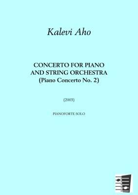 Concerto for Piano and String Orchestra (Piano Concerto No. 2) - score
