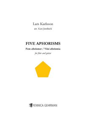 Five Aphorisms for flute and guitar - Score & parts