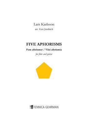 Five Aphorisms for flute and guitar - Score & parts