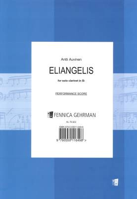 Eliangelis for solo clarinet - Clarinet in Bb