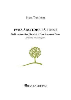 Fyra årstider på Finns / Four Seasons at Finns - Score/piano & parts (3 vl, 2 vla)