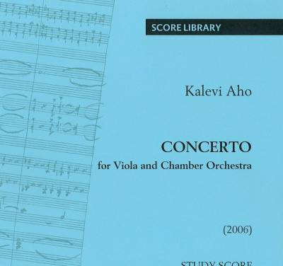 Concerto for Viola and Chamber Orchestra - Study score