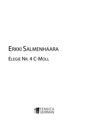 Elegia / Elegy no 4 (in C Minor)