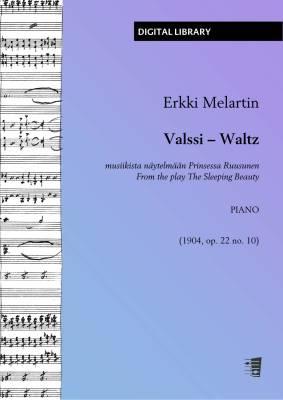 Valssi musiikista näytelmään Prinsessa Ruusunen - piano (PDF)