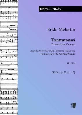 Tonttutanssi musiikista näytelmään Prinsessa Ruusunen - piano (PDF)
