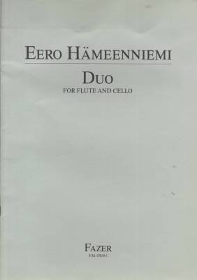 Duo for flute and cello - Playing score