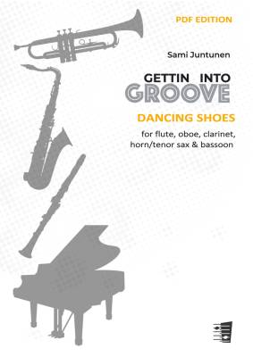 Dancing Shoes - Flute, oboe, clarinet, horn (or tenor sax) & bassoon (score & parts) (PDF)
