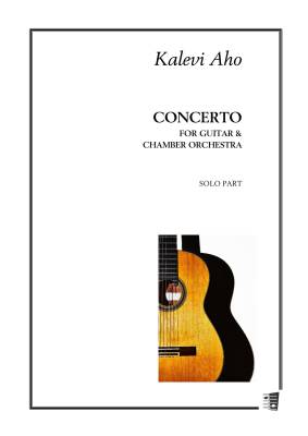 Concerto for guitar and chamber orchestra - Solo guitar part