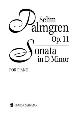 Sonata for piano in D Minor op. 11