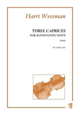 Three Caprices for Konstantin Weitz - violin solo