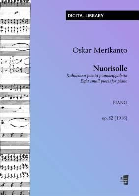 Nuorisolle - Kahdeksan pientä pianokappaletta op. 92 - Piano (PDF)