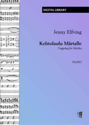 Kehtolaulu Märtalle (Berceuse) - Piano (PDF)