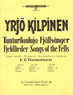 Tunturilauluja 1 / Fjell Songs 1 op 52