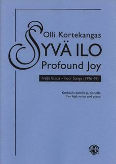 Syvä ilo / Profound Joy (high voice)